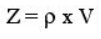 Accoutic Impedence formula